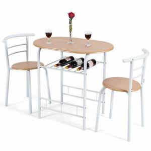 3-Piece-Dining-Set-Table-2-Chairs-Bistro-Pub-Home-Kitchen-Breakfast-Furniture