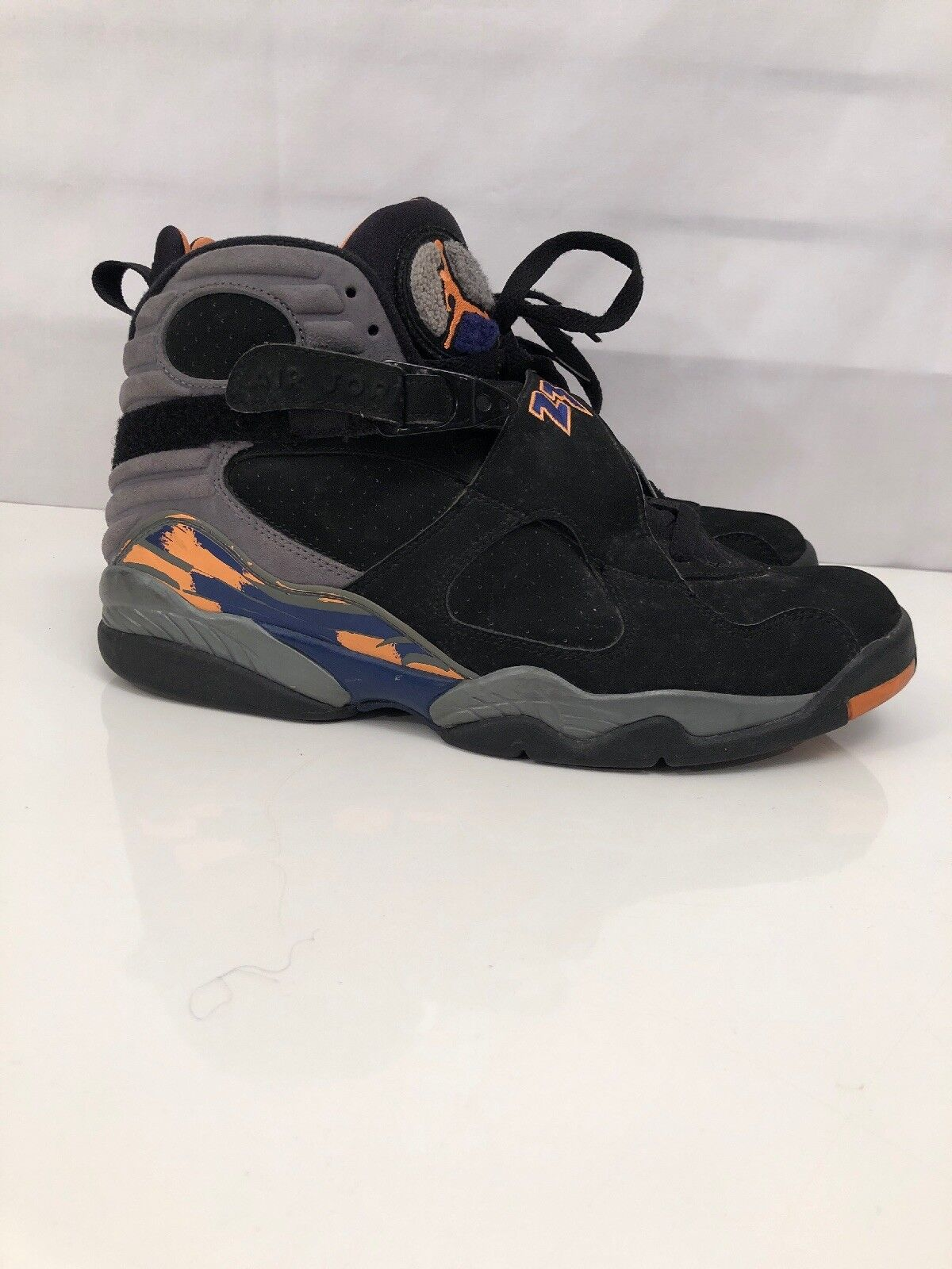 Nike Air Jordan VIII 8 Retro PHOENIX SUNS BLACK orange 305381-043 Size 12 Mens