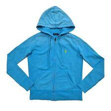 Polo Ralph Lauren Women's Full Zip Front Cotton Hoodie Blue Size M