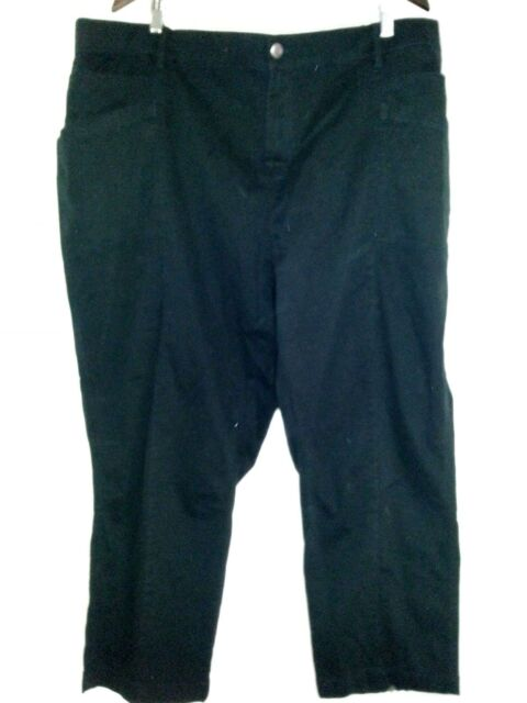 Autograph STRETCH Black Denim Zip fly crop capri cargo Jeans pants 22 belt loops