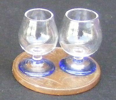 2019 Nuovo Stile 1:12 Scala 2 Bicchieri Da Brandy Con Base Blu Miniatura Casa Di Bambole Tumdee Gla6-mostra Il Titolo Originale