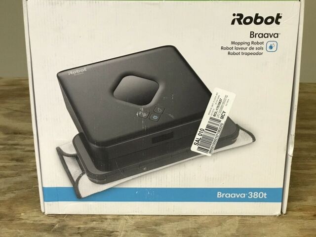Irobot Braava 380t Home Floor Mop Sweeper Sweeping Bagless Cleaner Robot New