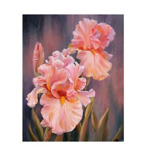 Peinture-par-Numeros-DIY-Peinture-Acrylique-Image-Art-Rose-Fleur-Peinture