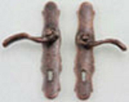 Dollhouse Miniature Bronze French Door Lever Handle with Key Hole CLA05580