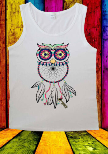 Dreamcatcher Owl Cool Fashion Urban T-shirt Vest Tank Top Men Women Unisex 2125