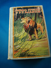 Animal Stories by P. T. Barnum 1926 Antique Hardcover Book American Illustrated