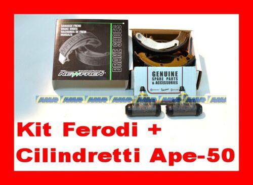 CILINDRETTI Original KIT COPPIA GANASCE FRENO POSTERIORE DX//SX APE 50 New Fren