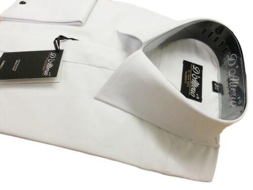Homme Blanc ou Ivoire Riche en Coton Collier de Reg Robe Mariage Chemise