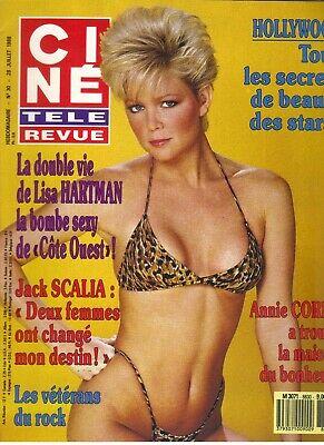 LISA HARTMAN French Cine Tele Revue Magazine 7/28/88 BIKINI   eBay