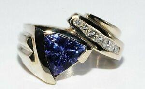 5-000-2-00CT-NATURAL-034-AAA-034-TANZANITE-amp-WHITE-DIAMOND-ENGAGEMENT-RING-14K-GOLD