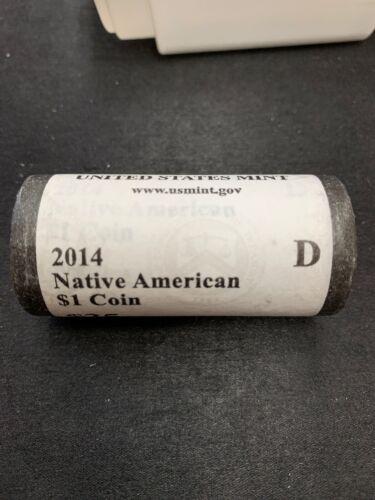 $25 2014-D U.S Mint Native American Dollar Roll In Original Wrap!