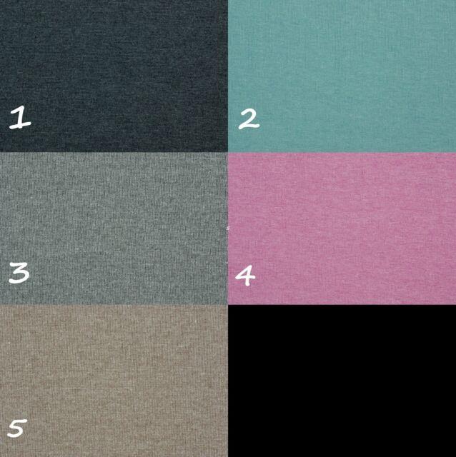 Bündchen Melange - anthrazit  grau  türkis  pink  schlamm  blau  gelb - meliert