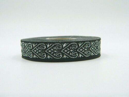 10m Jacquard Ribbon//Trim Medieval Heart 16mm width Various colours available 2