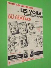 PUBLICITE - COLLECTION DU LOMBARD - NOUVEAUTES 64 VAILLANT COOPER - 1963 ( E8 )