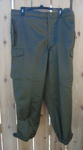 Grade 1 NOS winter lined pants Austrian Military O.D Size M to XL free ship