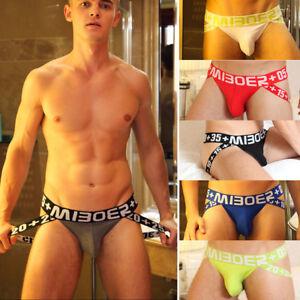 Men Boys Jockstrap T-back Cotton Briefs Backless Boxer Bulge Underwear Cool
