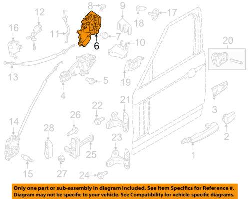 LAND ROVER OEM 2014 Range Rover Sport Front Door-Door Lock Kit LR078729