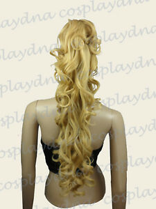 24-inch-Heat-Stylable-Beige-Blonde-Clip-on-ringlet-Curl-Cosplay-Ponytail-2086