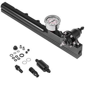 Fuel Rail Kit B16 B18 B20 Si LS GSR B-Series FPR+Fuel Pressure Regulator Gauge