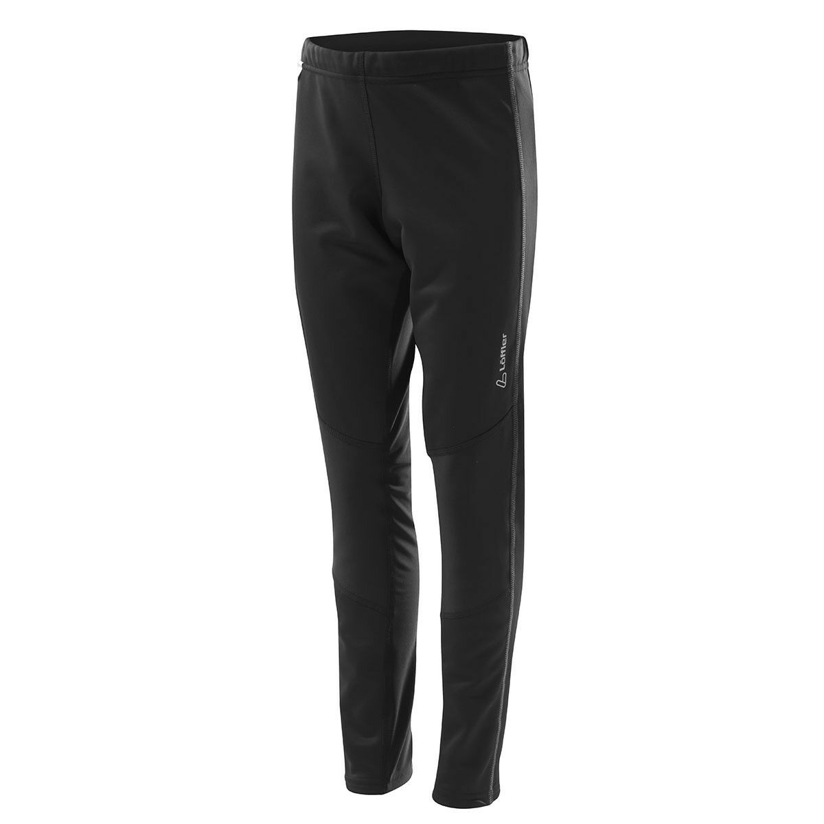 Löffler Tights lang WS Softshell warm Kinder Langlaufhose black