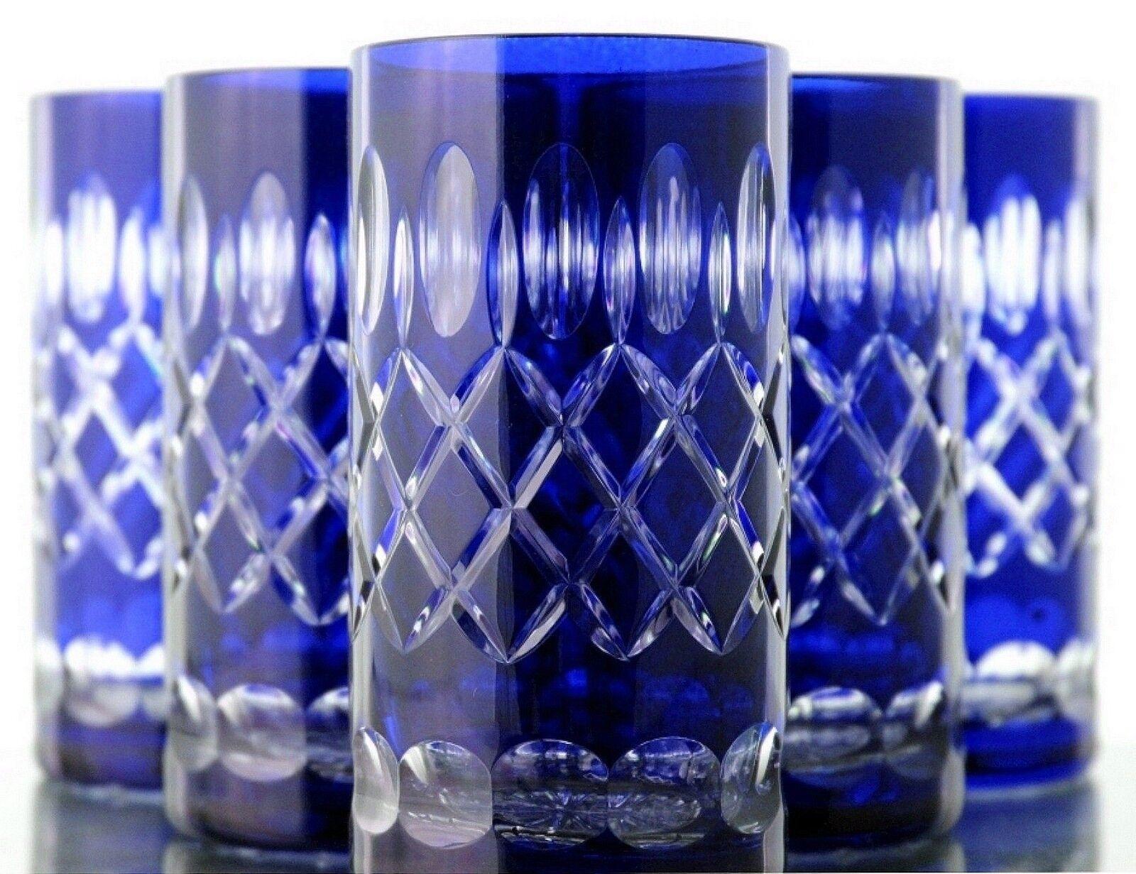 Longdrink Verres romains bleikristall 6 St. (283 B) bleue potable Verres bleikristall