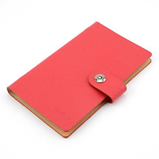 Business Card Holder Book Pu Leather 300 Name Cards Organize Red
