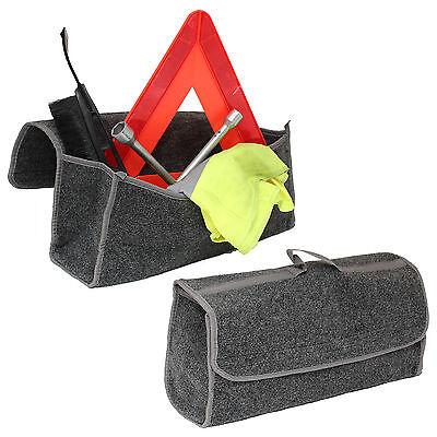 Grey Carpet Car Boot Protection Tidy Organizer Storage Trunk Bag Ford Focus