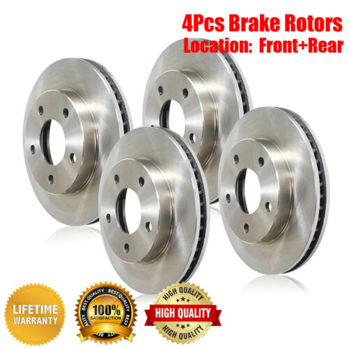 Centric Front /& Rear Brake Rotors 4PCS For Ford Crown Victoria 1992 1993 1994