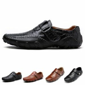 Genuine-Leather-Mens-Casual-Loafers-Breathable-Driving-Shoes-Slip-On-Moccasins