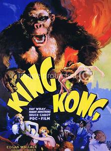 King Kong 1933 US Release Version 2 Vintage Movie 11x17 ...