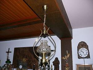 50er-Jahre-Lampe-Deckenlampe-Leuchte-Petroleumlampen-Stil-elektrisch