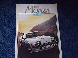 1980 Chevrolet Monza Auto Line Sales Brochure Mint!