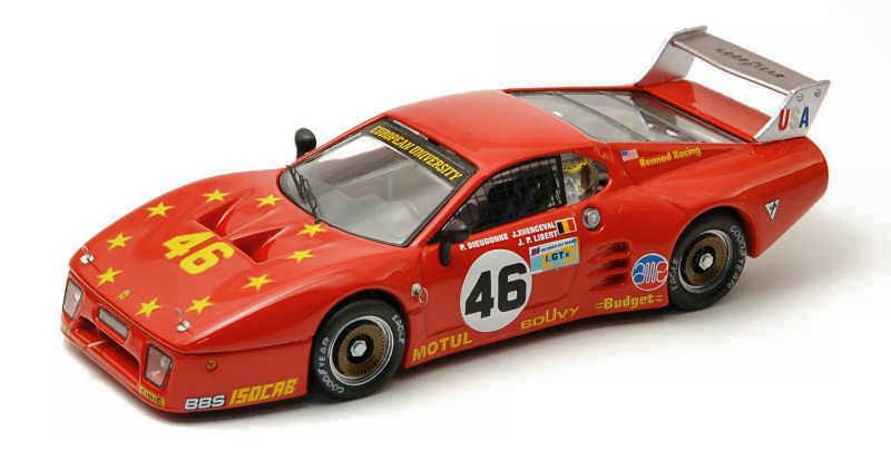 Ferrari 512 BB  46 9th LM 1981 Dieudonné'   Xhenceval Libert 1 43 MODEL