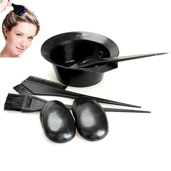 Salon Hair Coloring Dyeing Kit Dye Brush Comb Bowl Tint Tool Kit 5pcs