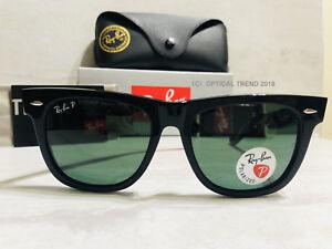 New Ray-Ban Orginal Wayfarer rb2140 901 58 54mm Black Frame Green ... 19285165bf60d