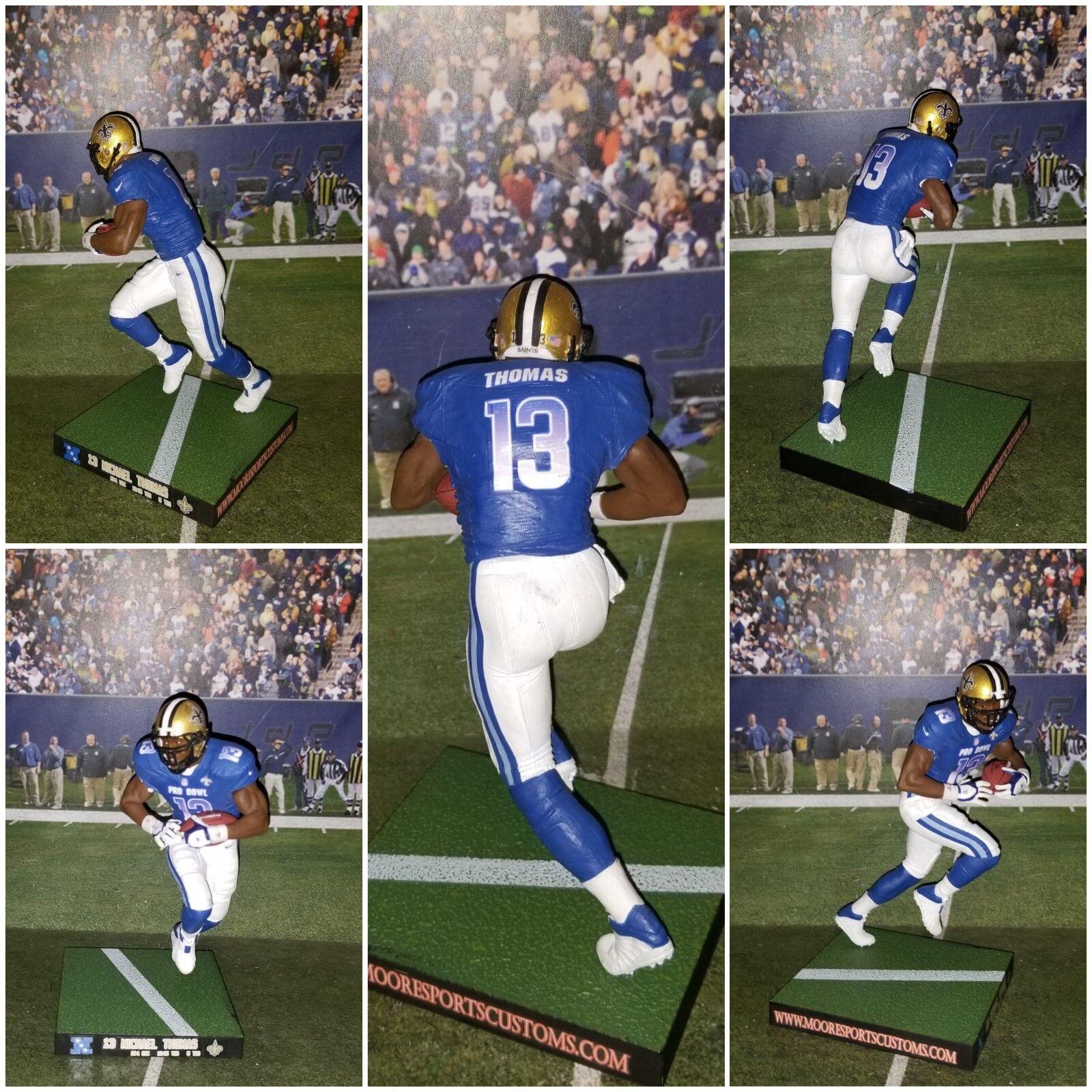 Custom M. Thomas  13 WR NO Saints  NFC Pro Bowl  Mcfarlane figure
