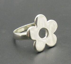 Sterling Silver Ring Solid 925 Fleur R000475 Empress-afficher Le Titre D'origine