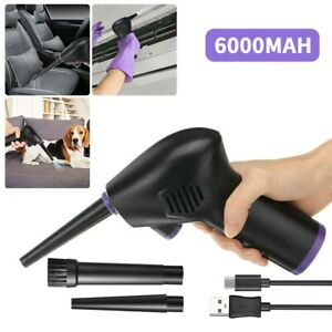 6000mah Cordless Air Dust Blower Rechargeable Dust Collector for PC Notebook Car