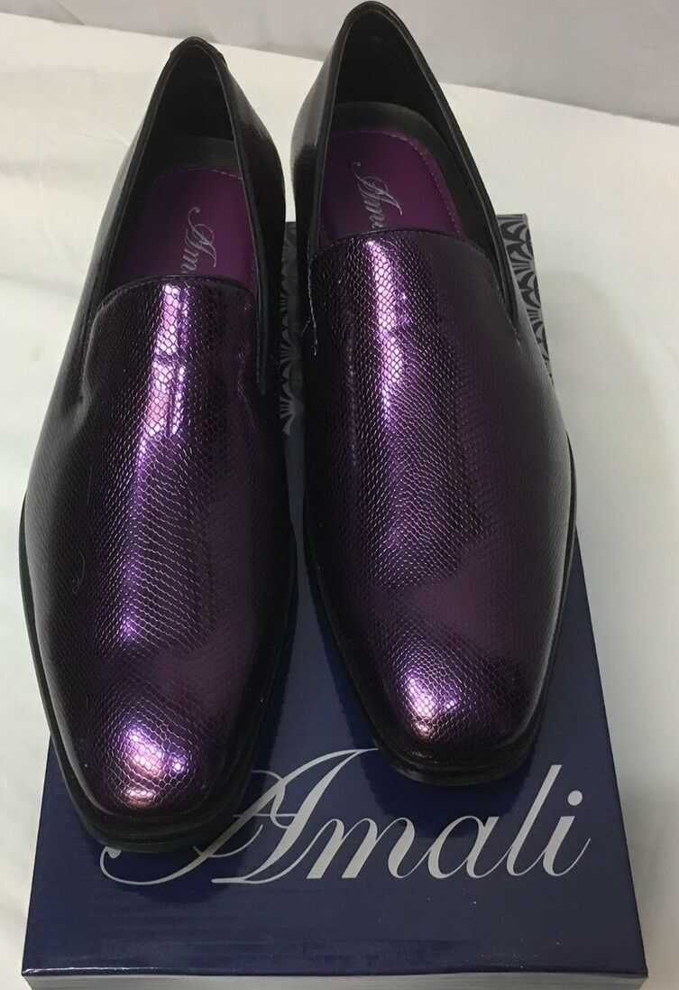 Men's dress schuhe Amali Farbe lila slip on