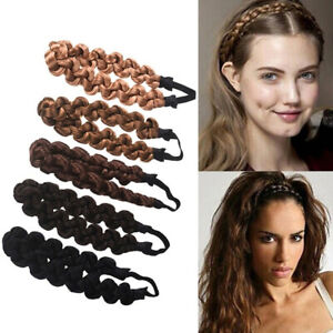 Fashion-Lady-Synthetic-Wig-Braided-Hair-Band-Elastic-Twist-Headband-Princess