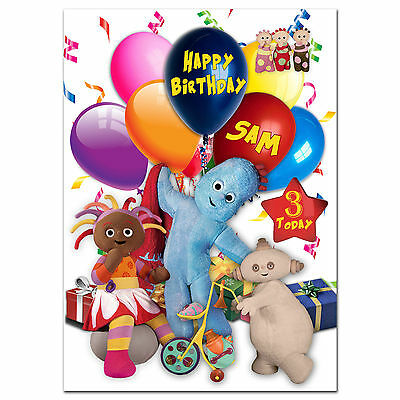 c007; Large Personalised Birthday card; Custom made for any name; Little babies