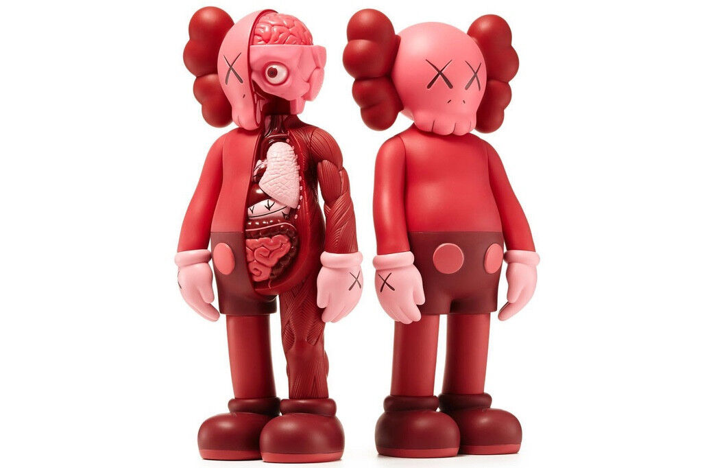 KAWS COMPANION blueSH RED OPEN EDITION KAWSONE NEW SEALED CONFIRMED