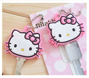 Hello Kitty Rubber Key Cap Key Case Wallet Holder Key Cover Coat Free Shipping