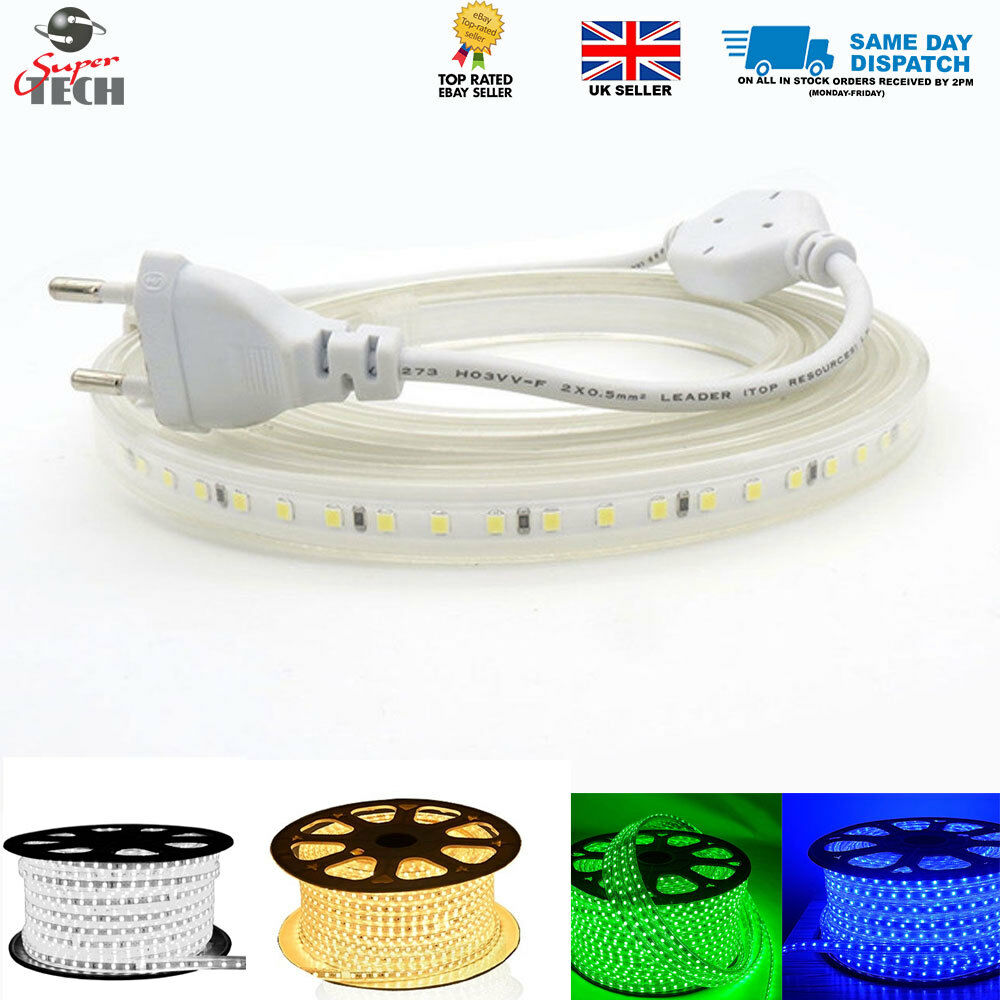 10MM 120 LED M PCB Strip light 220V IP67  Cool Weiß Warm Weiß Blau Grün
