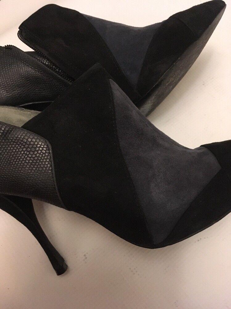 Tory Burch 9.5 womens  high heel Suede Suede Suede booties  side zippers b3c4bb