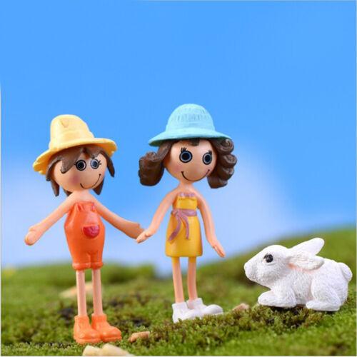 2x Fairy Doll Girl Miniature Garden Landscape Dollhouse Bonsai Craft Decor ZX