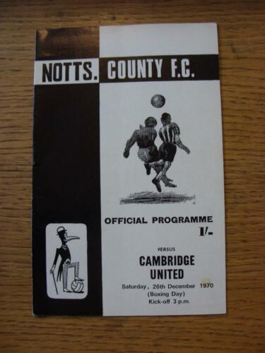 26121970 Notts County v Cambridge United 1st League Season slight mark on f