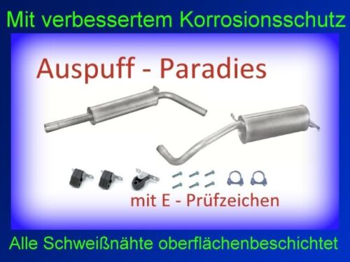 Abgasanlage Auspuff Endtopf Mitteltopf Skod Fabia II 1.4 Fließheck Anbaukit