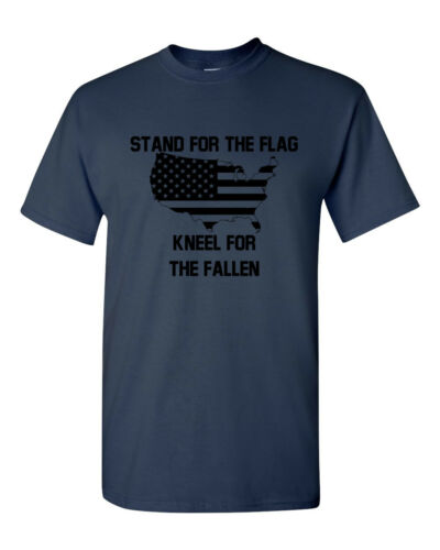 Stand For The Flag Kneel For The Fallen T-Shirt Army Veteran Tee Veterans Day