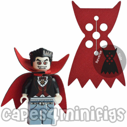 2 CUSTOM Count Dracula capes for Lego minifig / minfigures.  CAPES ONLY